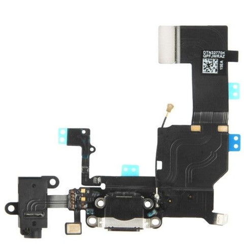 New High Quality Version Tail Connector Charger Flex Cable + Headphone Audio Jack Ribbon Flex Cable for iPhone 5C