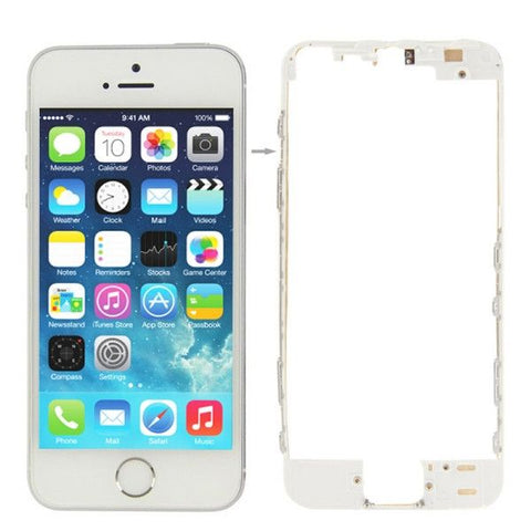 LCD & Touch Screen Frame for iPhone 5S(White)
