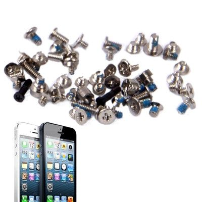 Full Screws Set Kit Repair Replacement Parts for iPhone 5(Black)