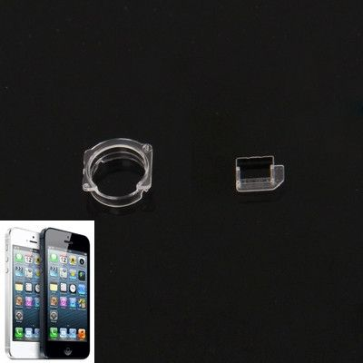 Transparent Plastic Camera Lens Frame for iPhone 5 & 5S & 5C (10 sets in one packaging,the price is for 10 sets)(Transparent)