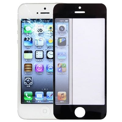 Front Screen Outer Glass Lens for iPhone 5(Black)