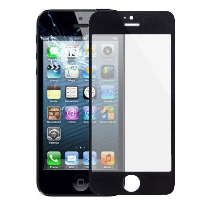 Front Screen Outer Glass Lens for iPhone 5 & 5S(Black)