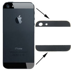 OEM Version Back Cover Top & Bottom Glass Lens for iPhone 5 (Black)