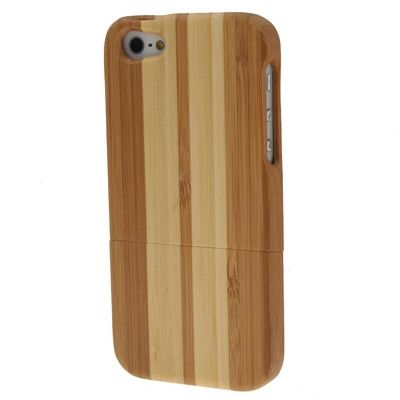 Light Color Wood & Bamboo Material Detachable Wood Material Case for iPhone 5
