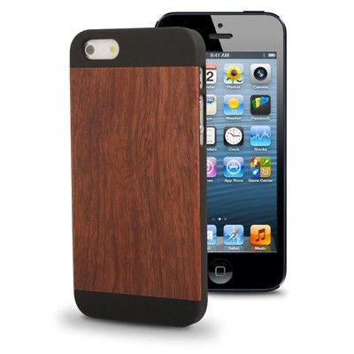 Protective Plastic Case with Rosewood Skin for iPhone 5 & 5S