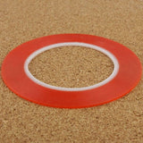 5mm 3M Double Sided Adhesive Sticker Tape for iPhone / Samsung / HTC Mobile Phone Touch Screen Repair, Length: 25m(Red) - Zasttra.com