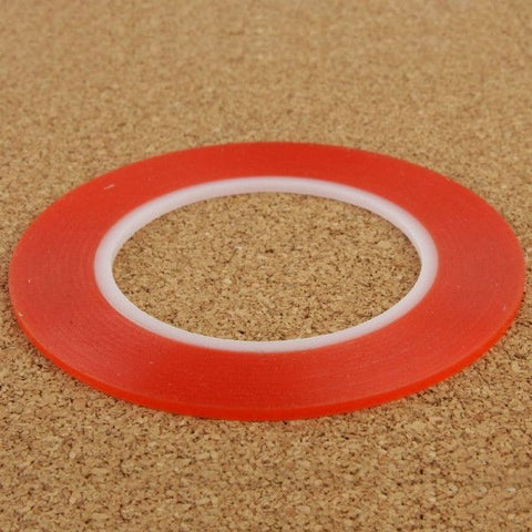 2mm 3M Double Sided Adhesive Sticker Tape for iPhone / Samsung / HTC Mobile Phone Touch Screen Repair,  Length: 25m (Red)