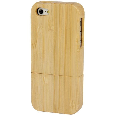Bamboo Material Detachable Case for iPhone 5
