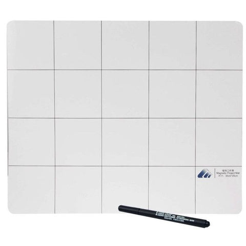Magnetic Project Mat with Marker Pen for iPhone / Samsung Repairing Tools, Size: 30cmx 25cm
