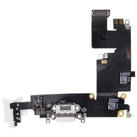 Charging Port Dock Connector Flex Cable Replacement for iPhone 6 Plus(White)