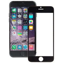 iPartsBuy Front Screen Outer Glass Lens for iPhone 6 Plus(Black)