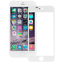 iPartsBuy Front Screen Outer Glass Lens for iPhone 6 Plus(White)