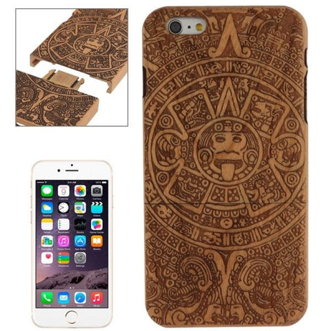 Maya Pattern Arc Border Separable Cherry Wooden Case for iPhone 6 Plus & 6S Plus