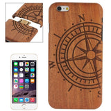 Online Buy Compass Pattern Arc Border Separable Sapele Wooden Case for iPhone 6 Plus & 6S Plus | South Africa | Zasttra.com
