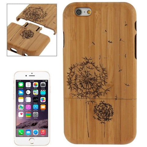 Dandelion Pattern Arc Border Separable Bamboo Wooden Case for iPhone 6 Plus & 6S Plus