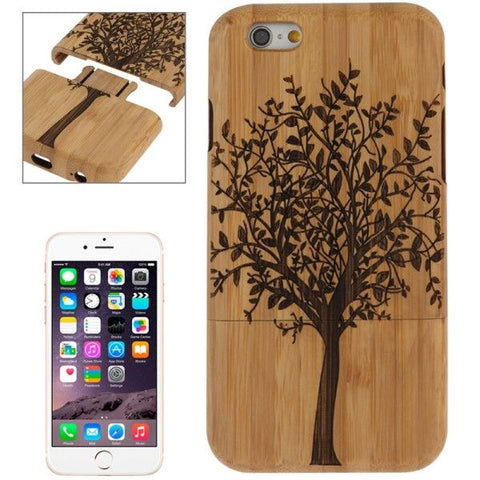 Tree Pattern Arc Border Separable Bamboo Wooden Case for iPhone 6 Plus & 6S Plus