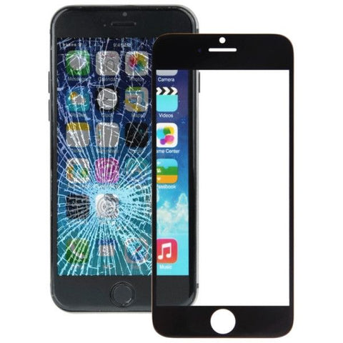 iPartsBuy Front Screen Outer Glass Lens for iPhone 6(Black)