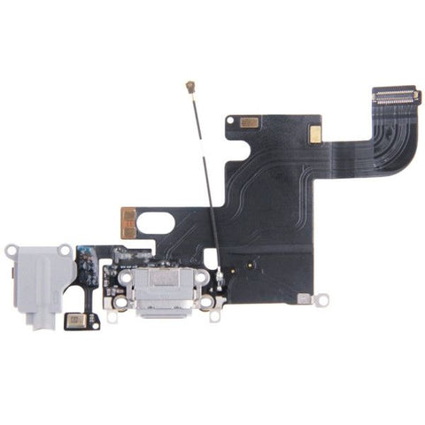 iPartsBuy Charging Port Dock Connector Flex Cable Replacement for iPhone 6(Grey)