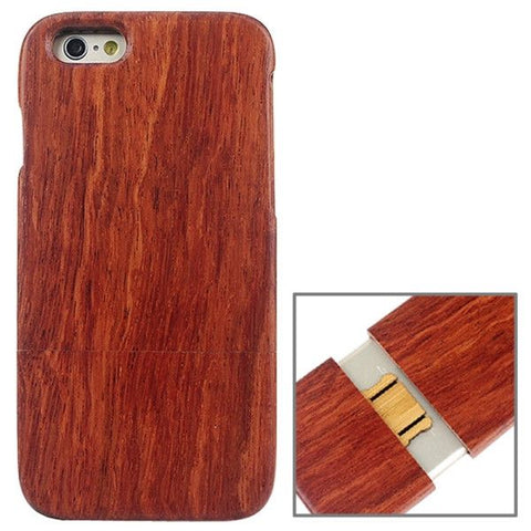 Detachable Red Wood Material Protective Case for iPhone 6 & 6S