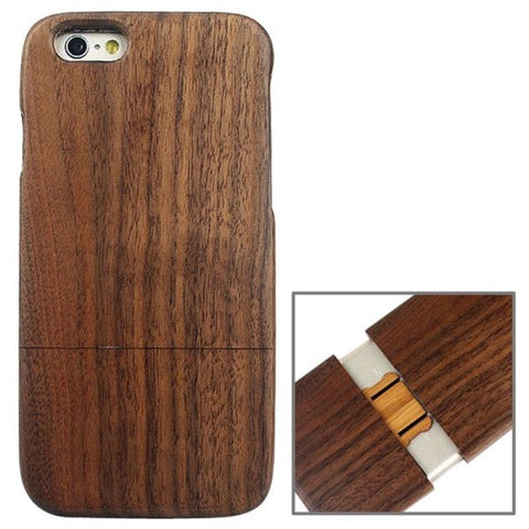 Detachable Walnut Wood Material Protective Case for iPhone 6 & 6S