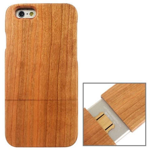 Detachable Pinewood Material Protective Case for iPhone 6 & 6S