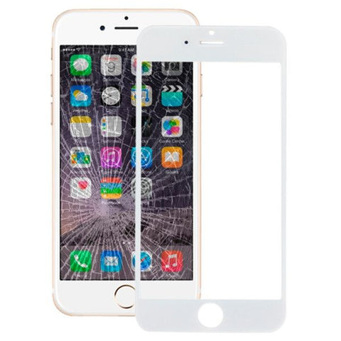 iPartsBuy Front Screen Outer Glass Lens for iPhone 6(White)