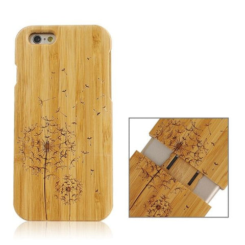 Dandelion Pattern Separable Bamboo Case for iPhone 6