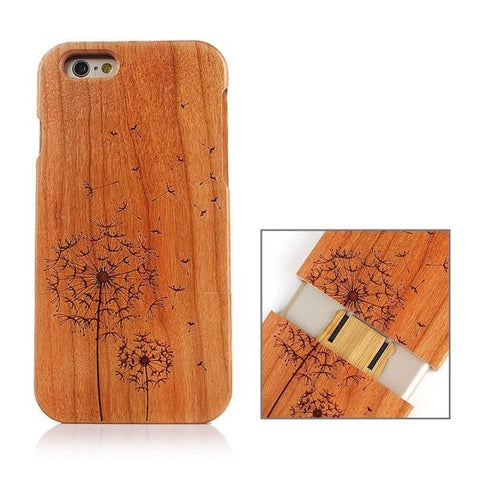 Dandelion Pattern Separable Wooden Case for iPhone 6