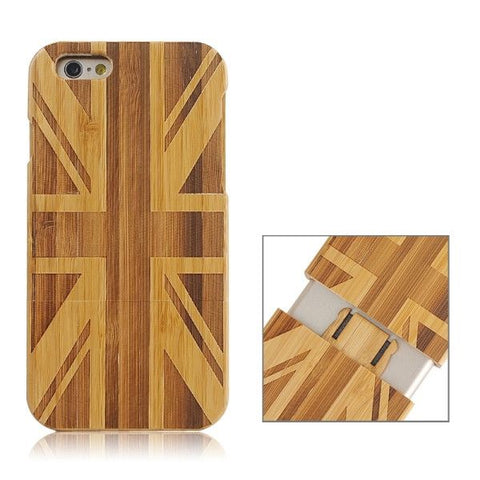 UK Pattern Separable Bamboo Case for iPhone 6