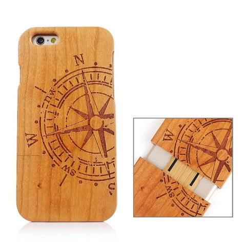 Rudder Pattern Separable Wooden Case for iPhone 6