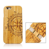 Rudder Pattern Separable Bamboo Case for iPhone 6 - Zasttra.com