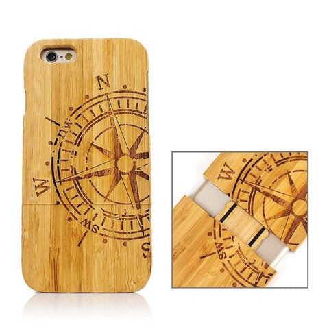 Rudder Pattern Separable Bamboo Case for iPhone 6