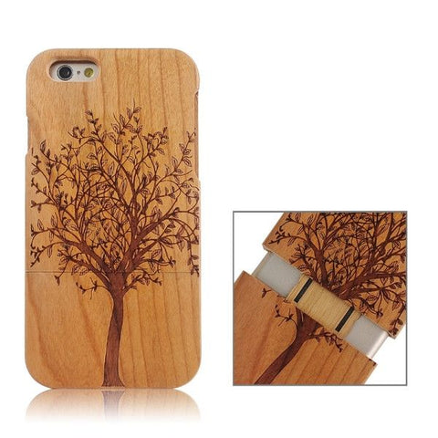 Tree Pattern Separable Wooden Case for iPhone 6