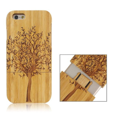 Tree Pattern Separable Bamboo Case for iPhone 6