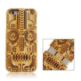Tribal Totem Pattern Separable Bamboo Case for iPhone 6 - Zasttra.com