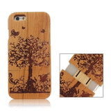 Garden Pattern Separable Wooden Case for iPhone 6 - Zasttra.com