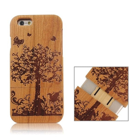 Garden Pattern Separable Wooden Case for iPhone 6