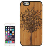 Tree Pattern Wood Paste Black PC Back Shell Case for iPhone 6 & 6S - Zasttra.com