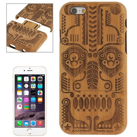 Totem Pattern Arc Border Separable Bamboo Wooden Case for iPhone 6 & 6S