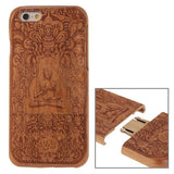 Buddha Pattern Separable Cherry Wooden Case for iPhone 6 & 6s - Zasttra.com