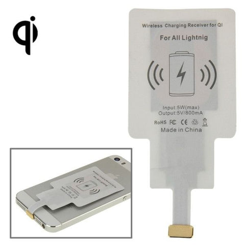 8Pin Wireless Charging Receiver for iPhone 6 Plus & 6S Plus / 6 / 5S / 5C / 5(White)