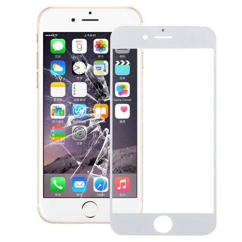 iPartsBuy Front Screen Outer Glass Lens for iPhone 6S Plus(White)