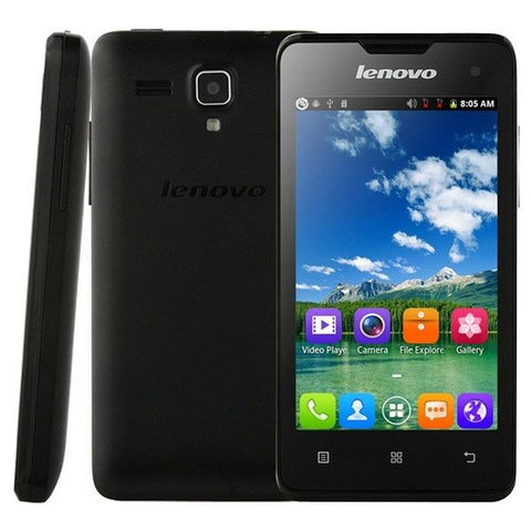 Lenovo A396 3G Network Smart Phone, 4.0 inch SC7730 Quad Core 1.2GHz(Black)