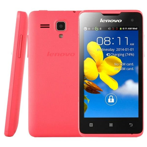 Lenovo A396 3G Network Smart Phone, 4.0 inch Android 2.3,  SC7730 Quad Core 1.2GHz(Pink)