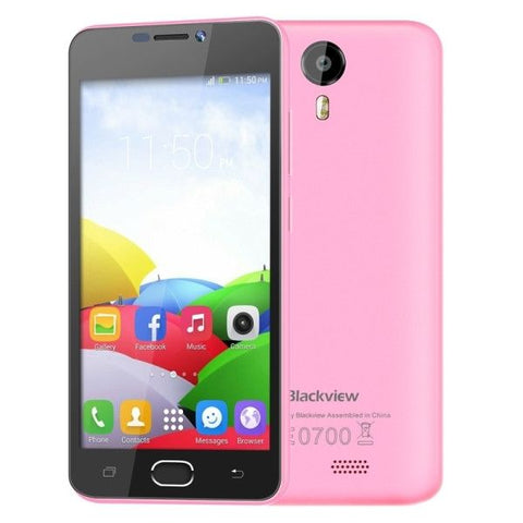 Blackview BV2000 8GB, Network: 4G, 5 inch Android 5.1 MTK6735 Quad-core 1.0GHz, RAM:1GB(Pink)