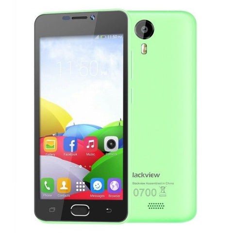 Blackview BV2000 8GB, Network: 4G, 5 inch Android 5.1 MTK6735 Quad-core 1.0GHz, RAM:1GB(Green)