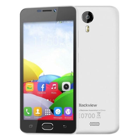 Blackview BV2000 8GB, Network: 4G, 5 inch Android 5.1 MTK6735 Quad-core 1.0GHz, RAM:1GB(White)