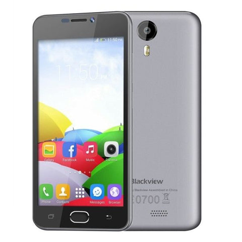 Blackview BV2000 8GB, Network: 4G, 5 inch Android 5.1 MTK6735 Quad-core 1.0GHz, RAM:1GB(Grey)