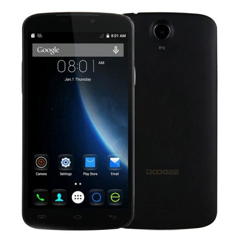 DOOGEE X6 8GB, Network: 3G, 5.5 inch Android 5.1 MT6580 Quad Core 1.3GHz, RAM:1GB(Black)
