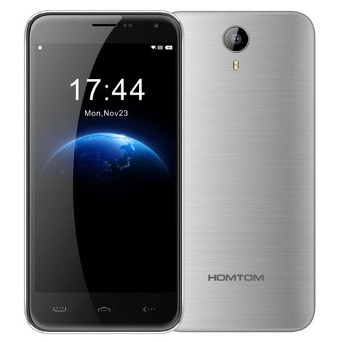 HOMTOM HT3 8GB, Network: 3G, 5 inch Android 5.1 MTK6580A Quad Core 1.3GHz, RAM: 1GB(Silver)